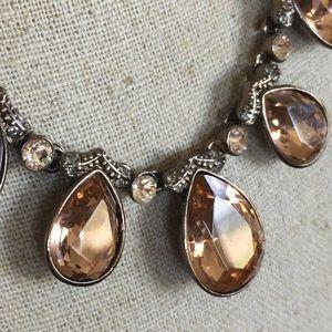 Rare Stella & Dot Chocolate Bronze Drop Necklace